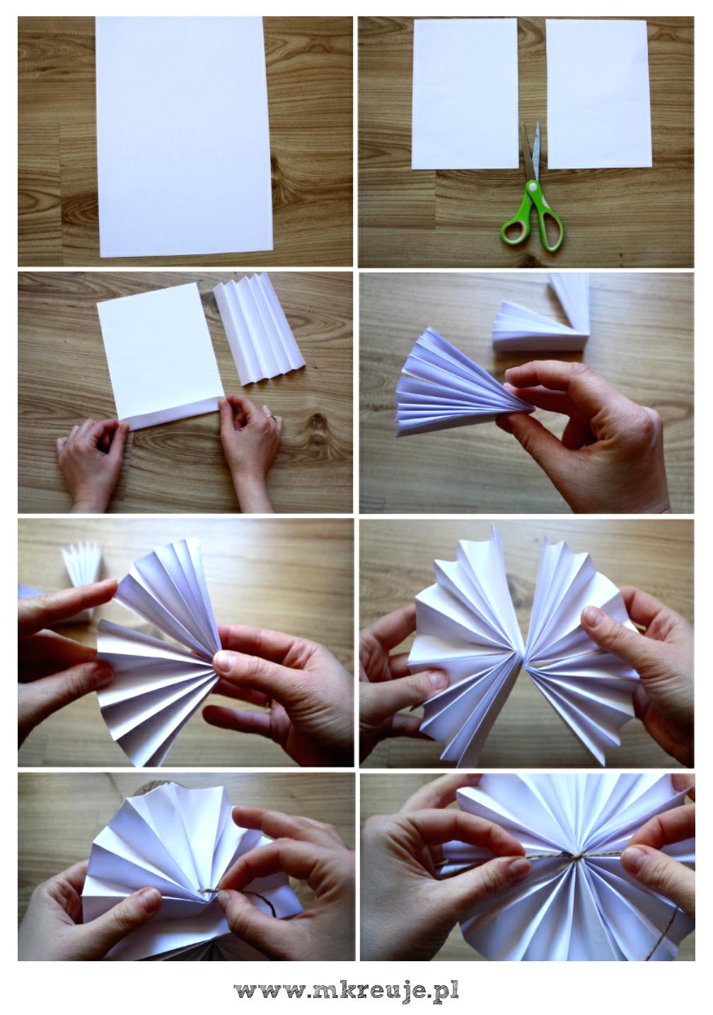 jak zrobić papierowe rozety krok po kroku DIY
