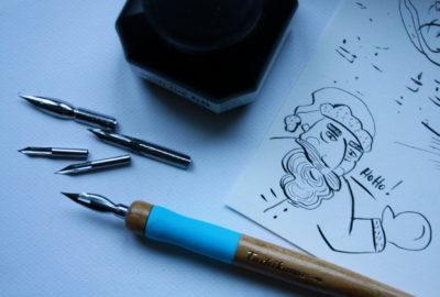 Pierwsze kroki ze stalówką i tuszem, Calligrafun zestaw startowy rysunek i kaligrafia