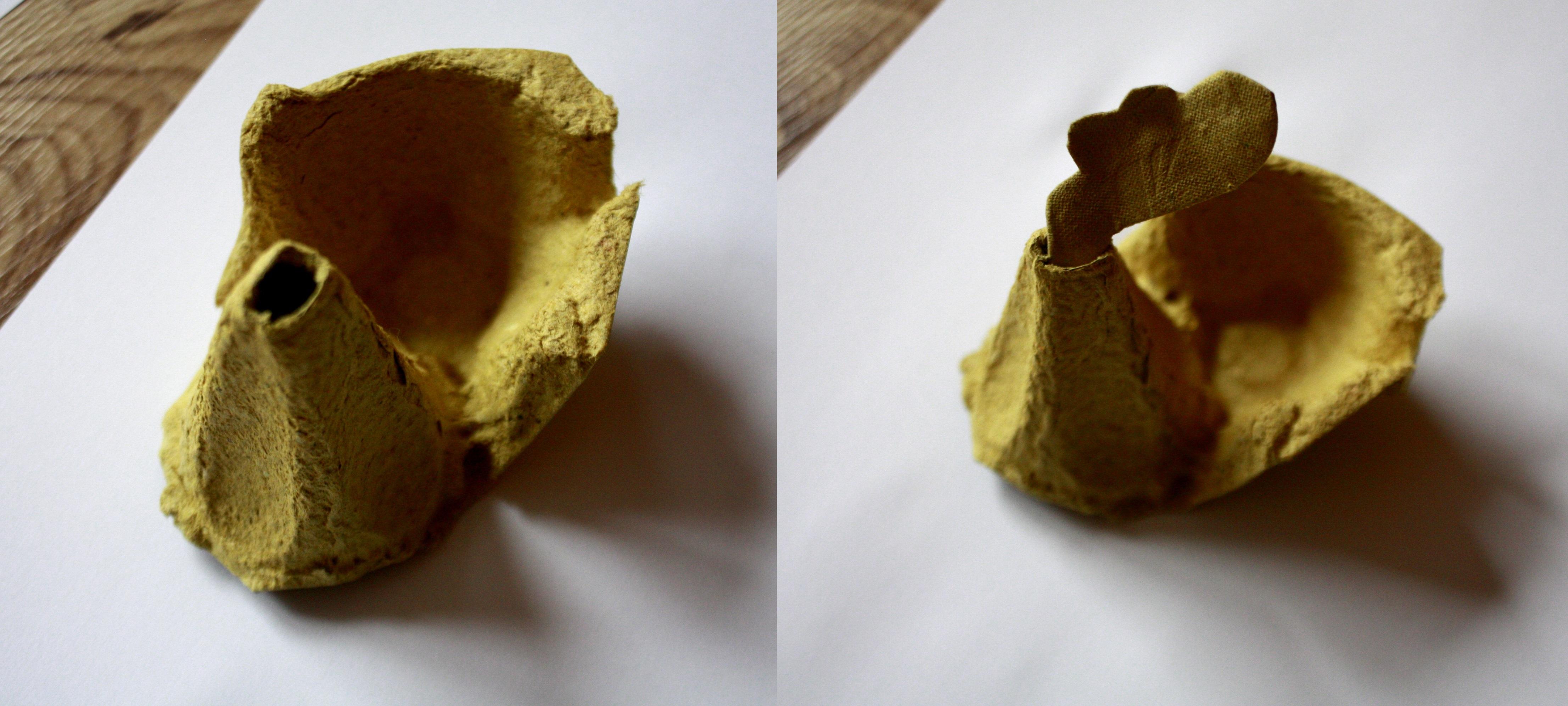 wielkanocne kurski z wytłaczanki po jajkach