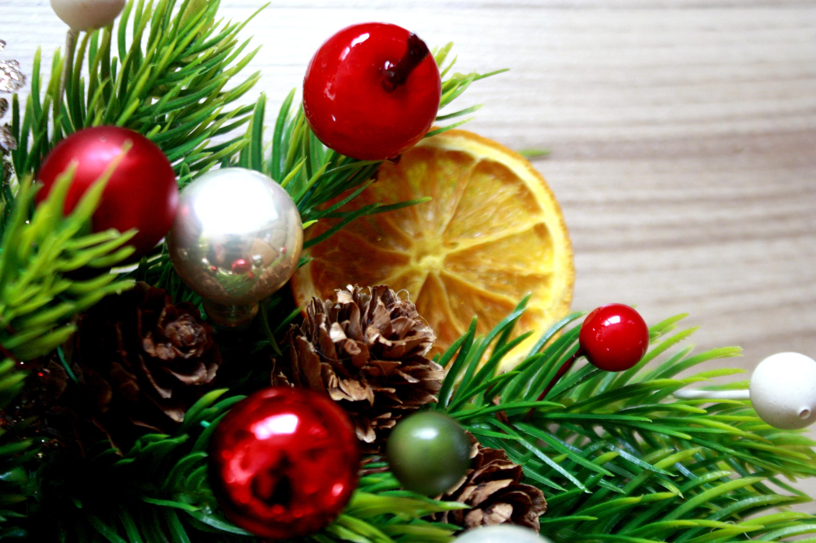 wianek świąteczny suszona pomarańcza