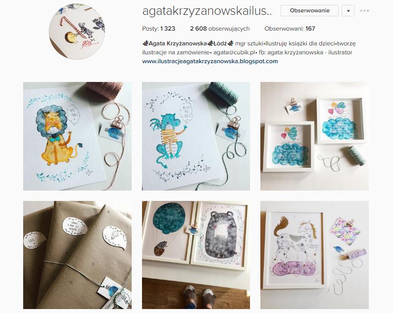 agata krzyzanowska ilustrator instagram
