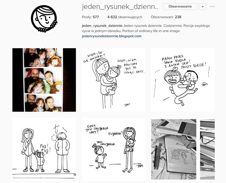 jeden_rysunek_dziennie instagram