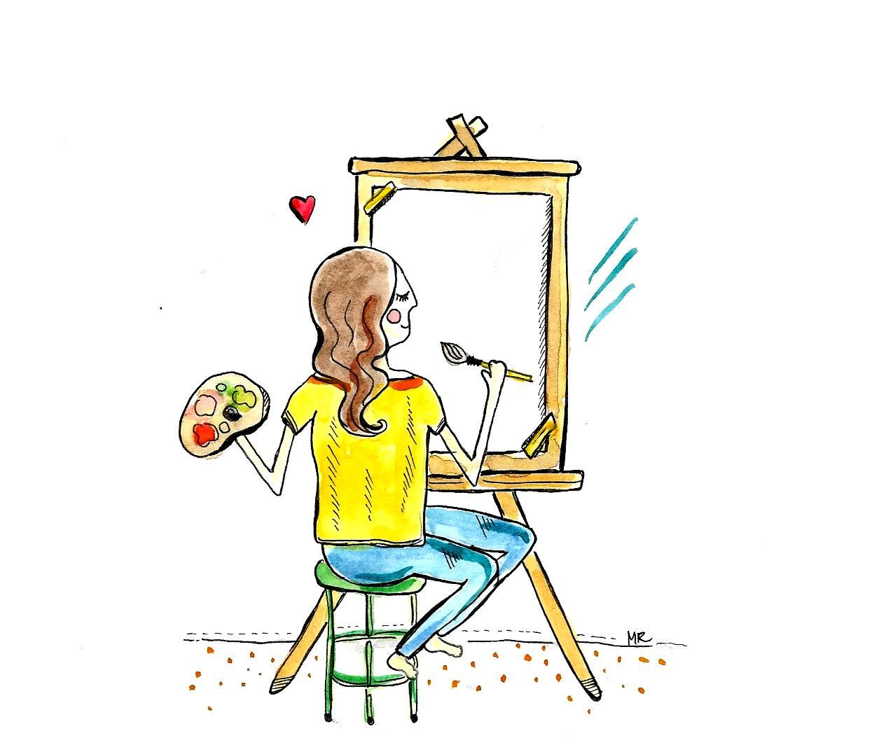 stan flow osiągasz kiedy robisz to co lubisz, na przykład podczas malowania kiedy nie czujesz upływającego czasu