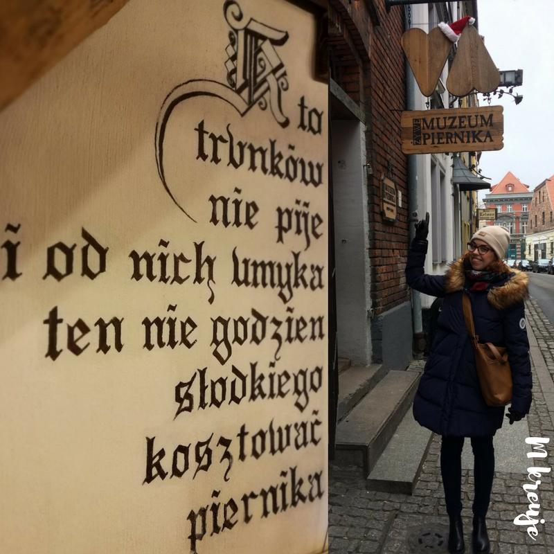 wejście do żywego muzeum piernika w Toruniu, relacja M kreuje
