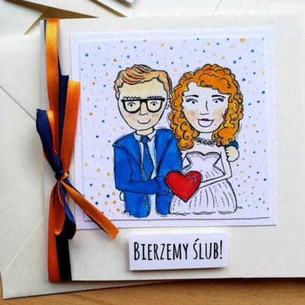 Zaproszenia ślubne ręcznie robione DIY