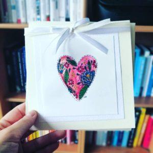 kartka ślubna ręcznie malowana, minimalistyczna