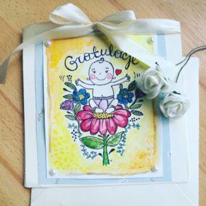 Kartka z okazji narodzin dziewczynki