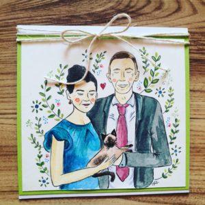 Kartka dla pary, minimaistyczna