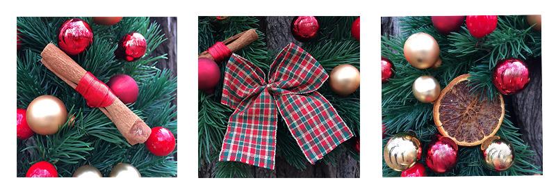 wianek świąteczny z cynamonem, detale