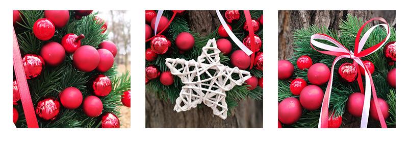 wianek świąteczny gwiazdor