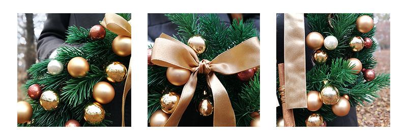 złote detale wianek świąteczny