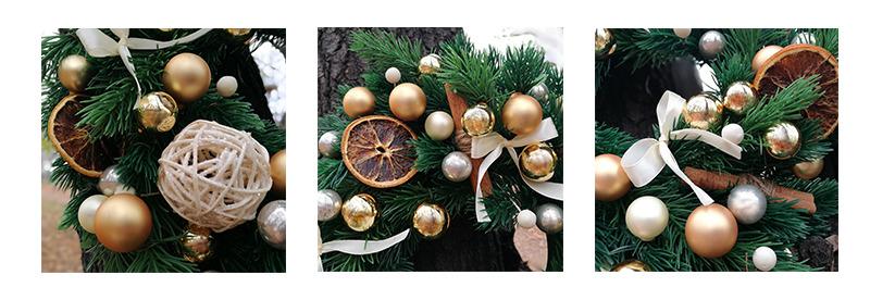 wianek świąteczny rustyk