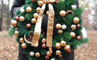 złoty wianek świąteczny Oscar