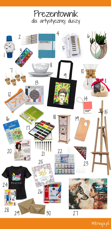30 pomysłów na prezent dla artystycznej duszy