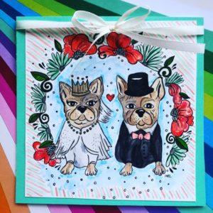 kartka ślubna na zamówienie, spersonalizowany projekt