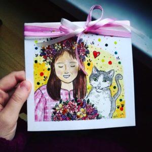kartka urodzinowa ręcznie robiona na zamówienie