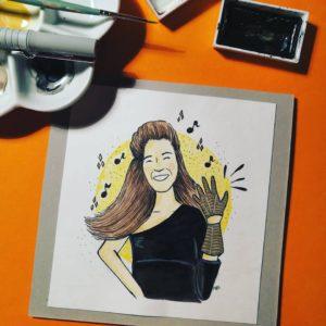 kartka urodzinowa ręcznie robiona Beyonce